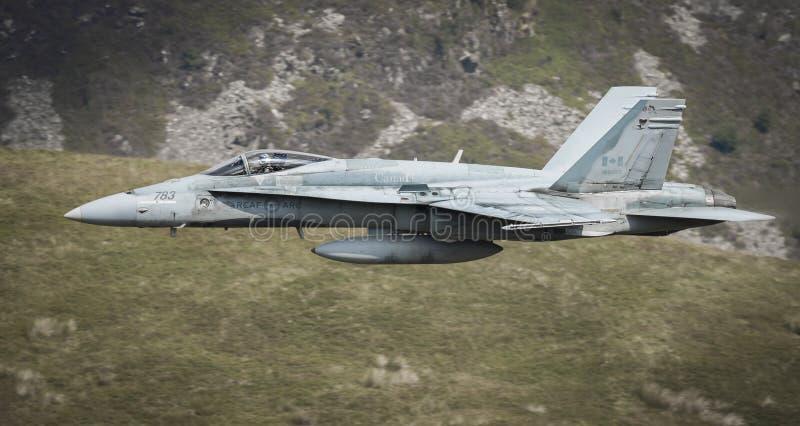 Avión de combate del canadiense F18 imagenes de archivo