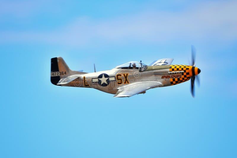 Avión de combate del mustango P-51 foto de archivo libre de regalías