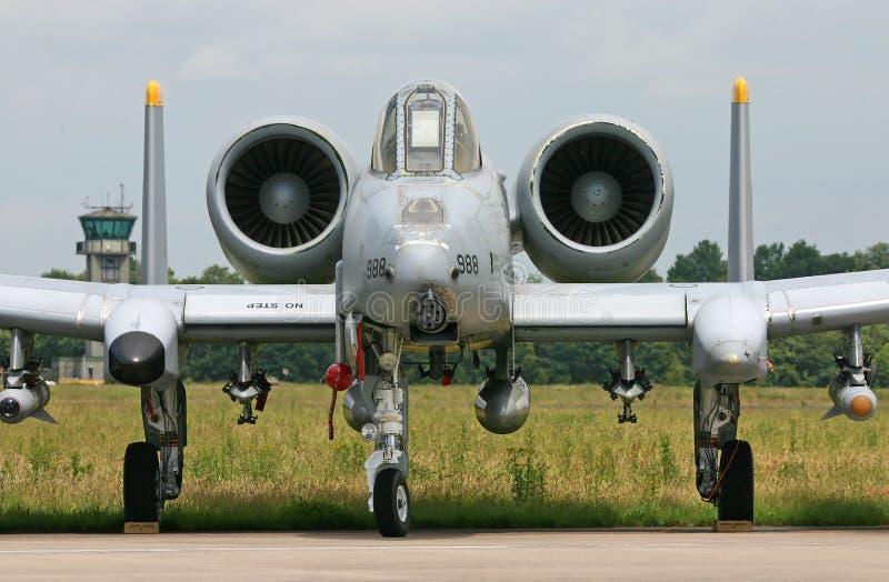 A-10 avión de combate del rayo II fotos de archivo