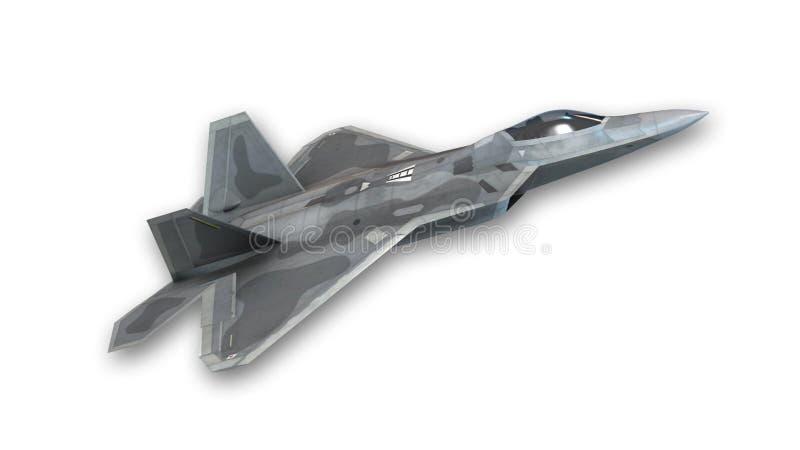 Avión de combate que saca, avión militar aislado en blanco libre illustration