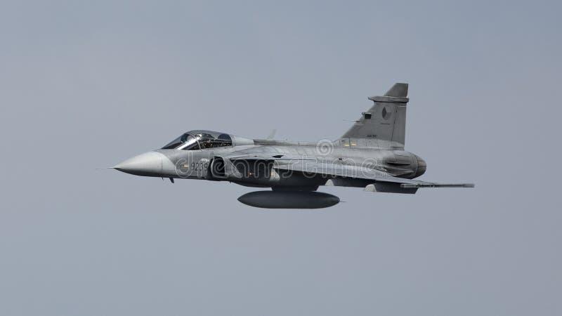 Avión de combate de Saab Gripen imágenes de archivo libres de regalías