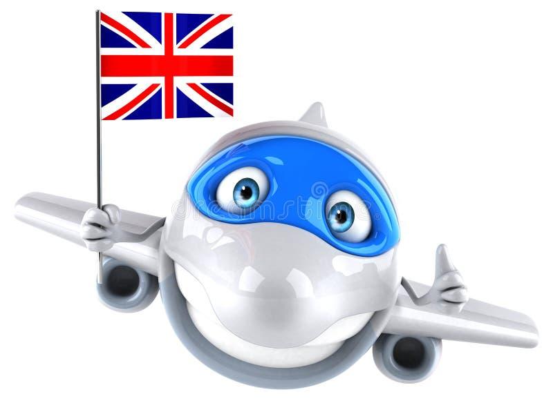 Avión de la diversión stock de ilustración