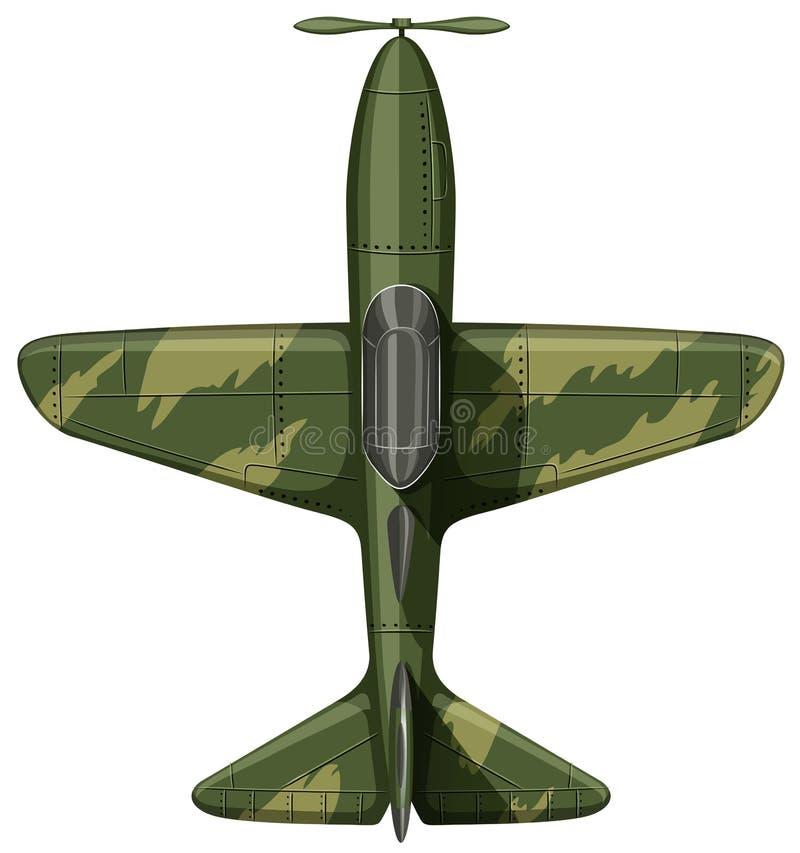 Avión De La Fuerza Aérea En Verde Ilustración del Vector ...