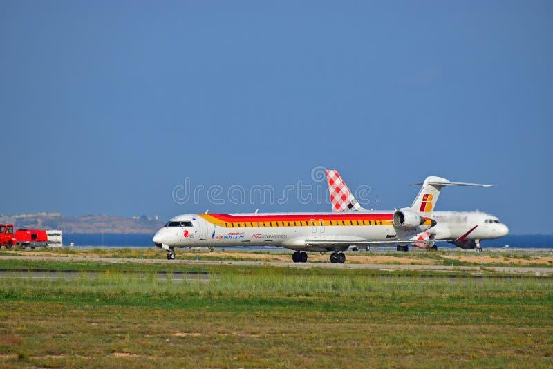 Avión de Nostrom del aire de Iberia foto de archivo