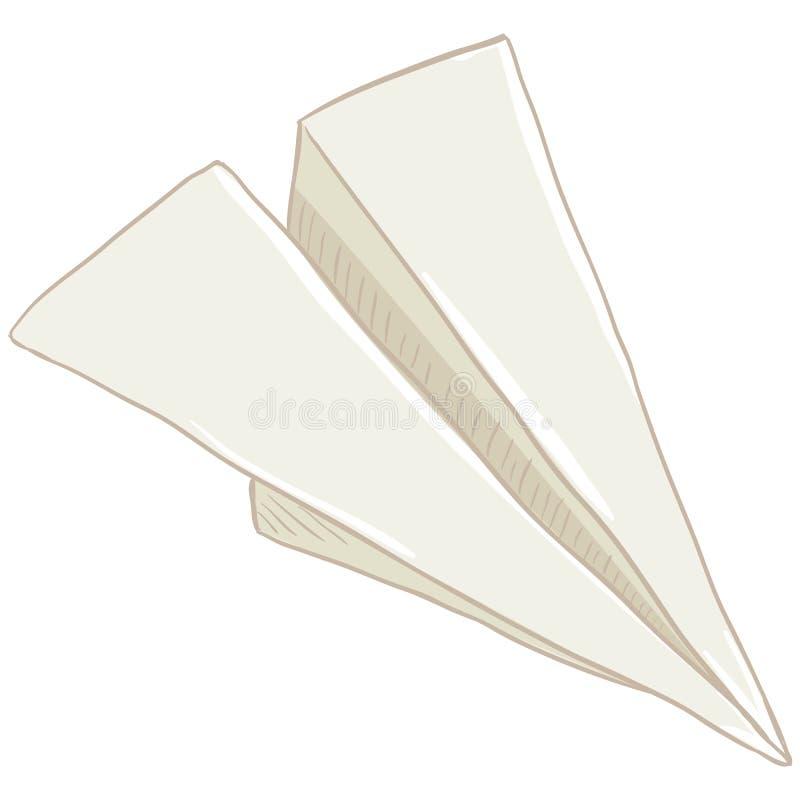 Avión de papel de la sola papiroflexia de la historieta del vector stock de ilustración