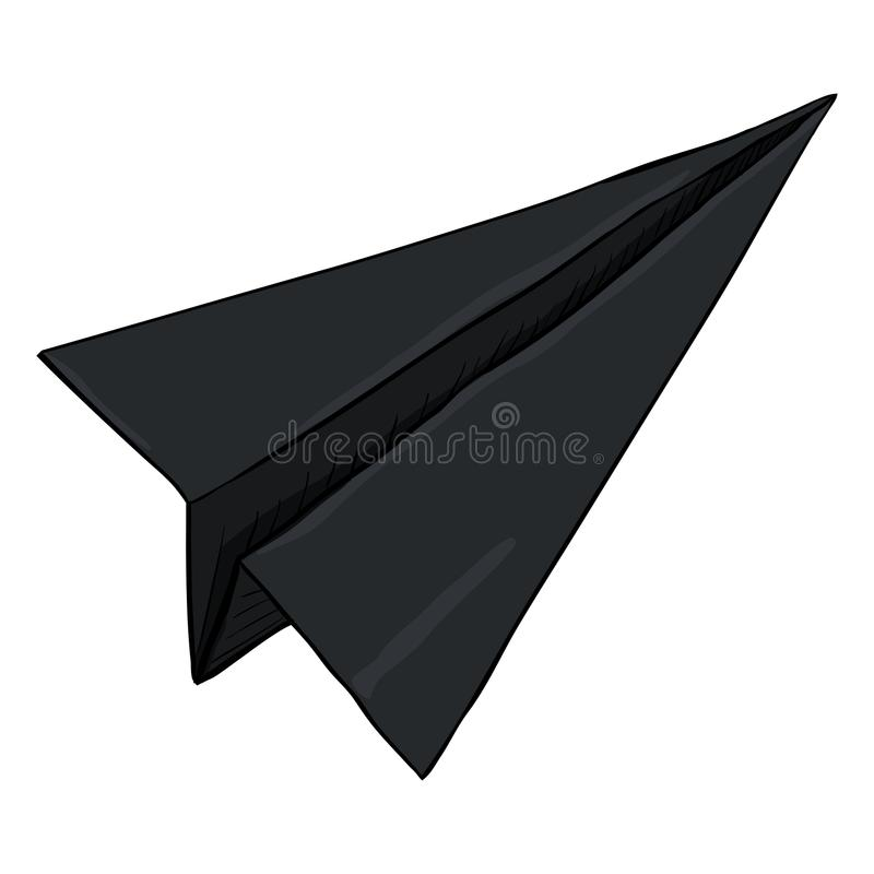 Avión de papel de la sola papiroflexia de la historieta del vector ilustración del vector