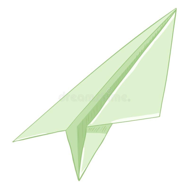 Avión de papel de la sola papiroflexia de la historieta del vector libre illustration