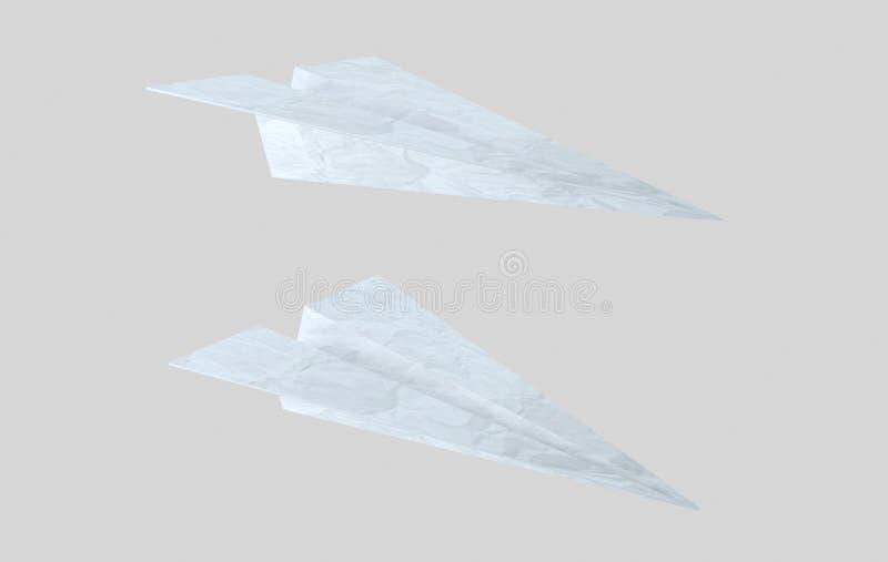 Avión de papel de la textura avión ilustración 3D ilustración del vector
