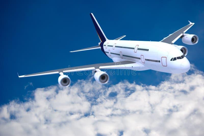 Avión de pasajeros comercial ilustración del vector