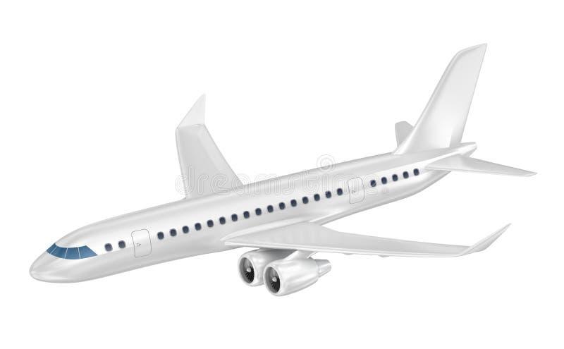 Avión de pasajeros grande ilustración 3D stock de ilustración