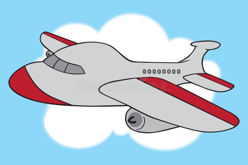 Avión de pasajeros de la historieta stock de ilustración