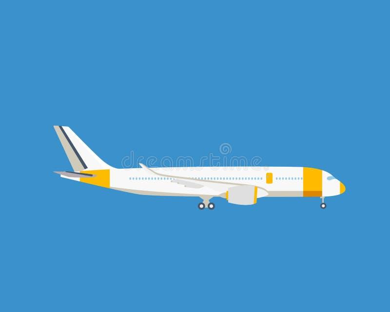 Avión de pasajeros moderno, en un fondo ligero libre illustration