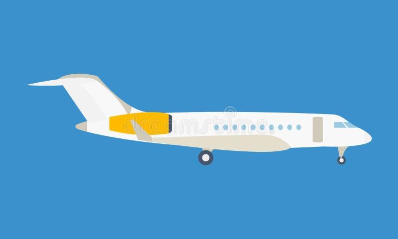 Avión de pasajeros moderno, en un fondo ligero ilustración del vector