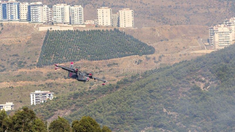 Avión del bombero imagen de archivo libre de regalías