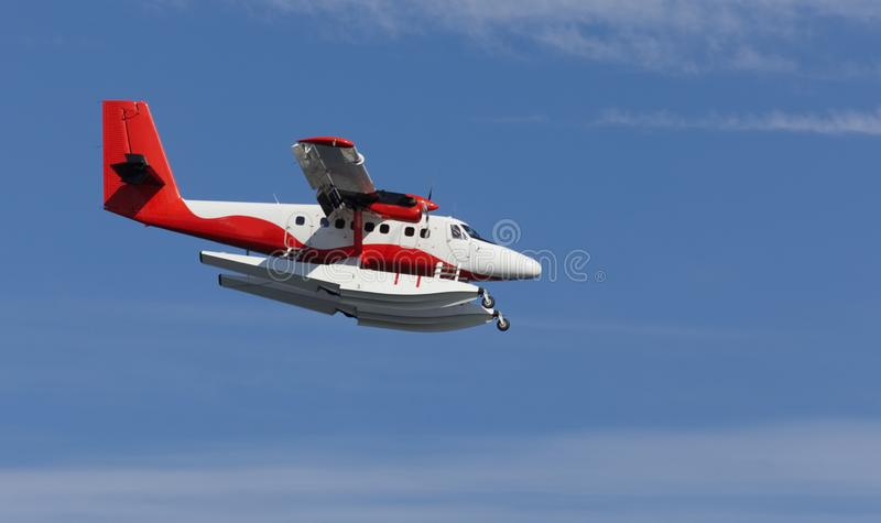 Avión del flotador en acercamiento imagenes de archivo