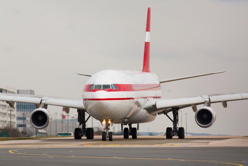 Avión del taxi imagen de archivo