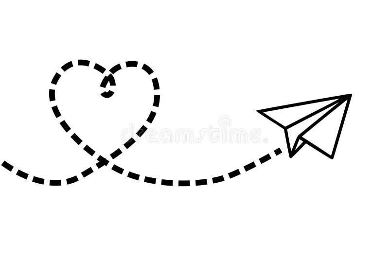 Avión del vuelo que hace un corazón libre illustration