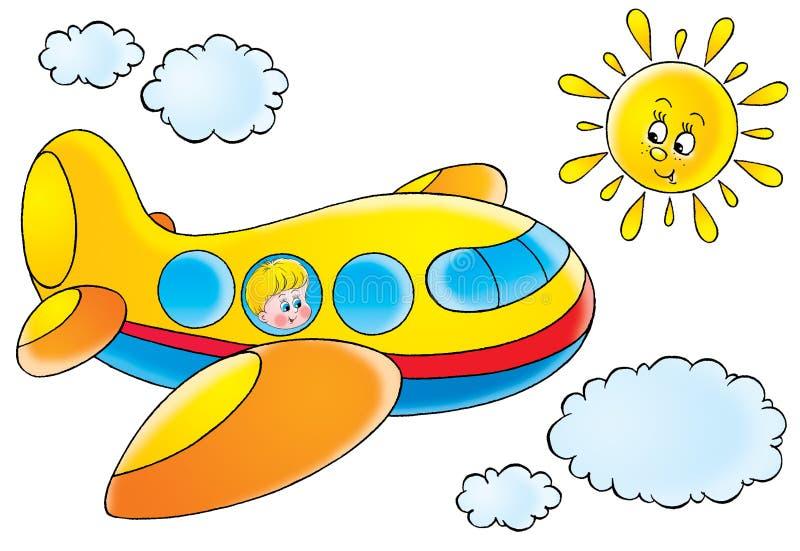 Avión divertido stock de ilustración