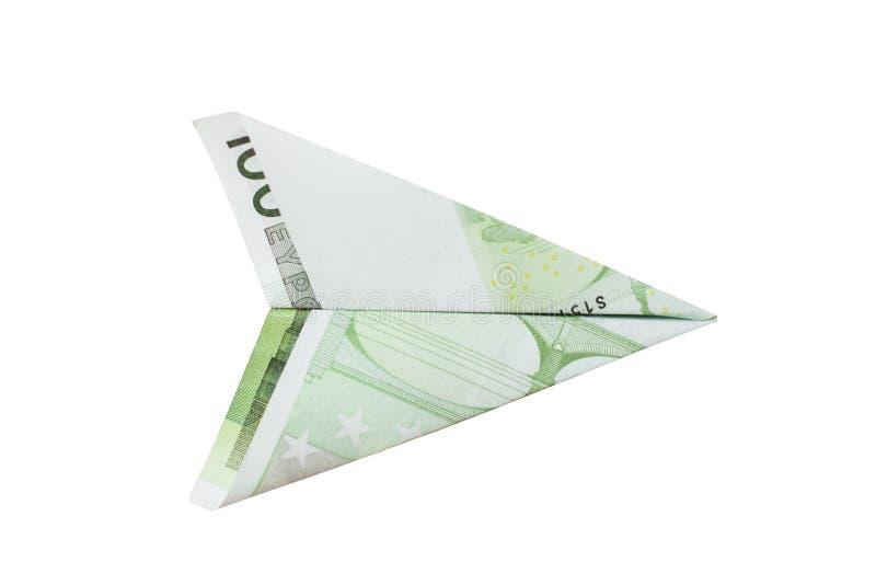Avión euro imagen de archivo libre de regalías