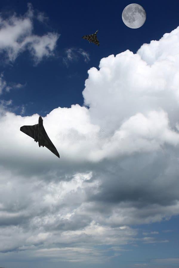 Avión militar stock de ilustración