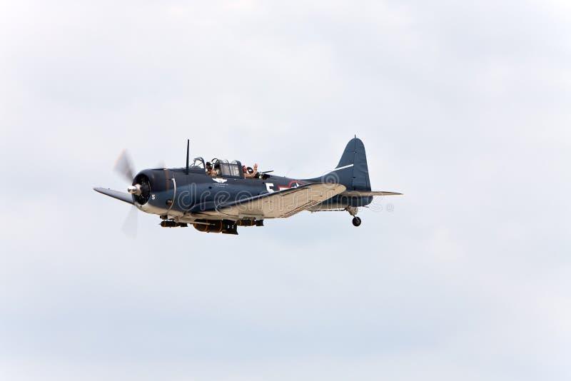 Avión militar de la vendimia fotografía de archivo