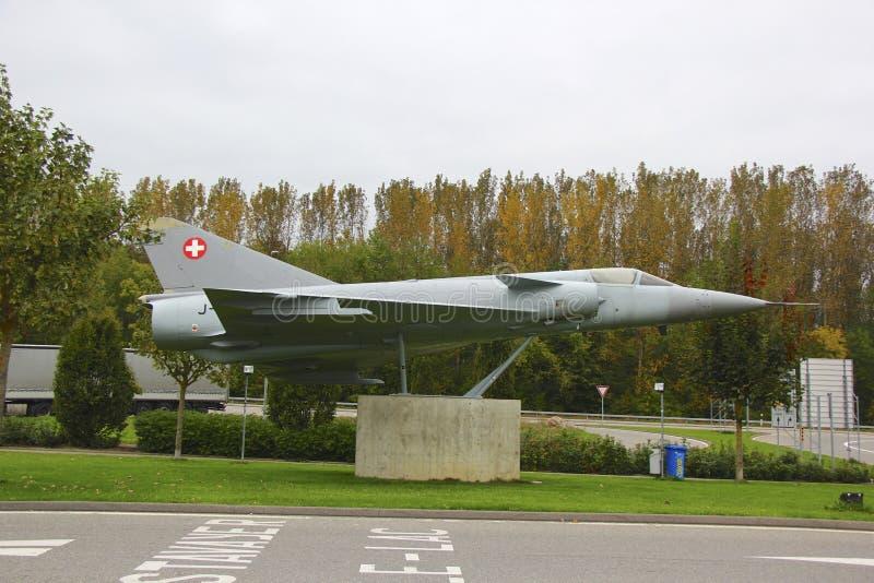 Avión militar suizo fotos de archivo libres de regalías