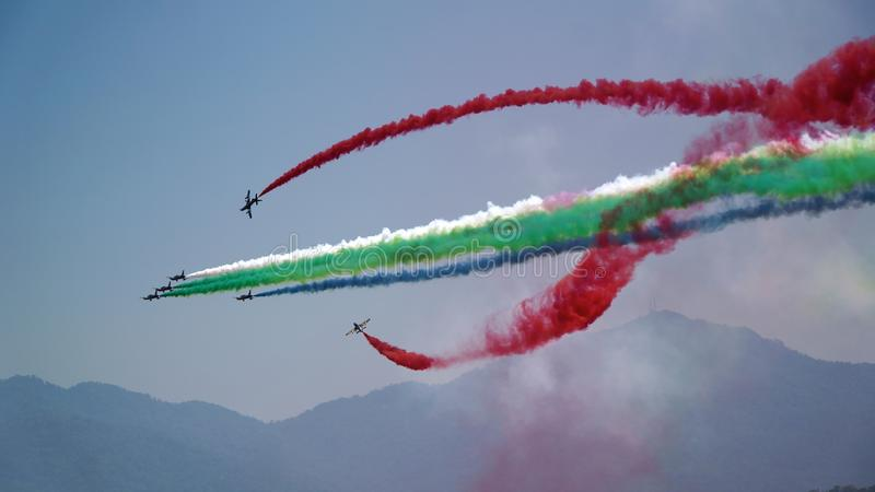 Aviões Aerobatic fotografia de stock royalty free