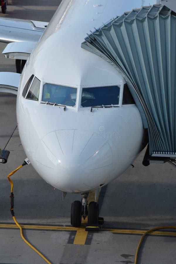 Aviões civis da terra forçada foto de stock royalty free