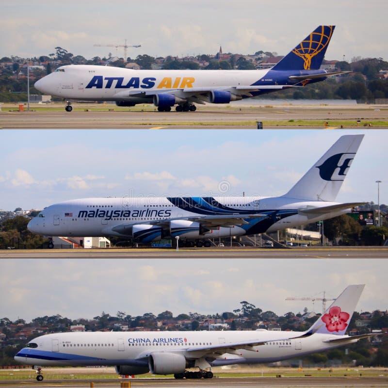Aviões comerciais foto de stock