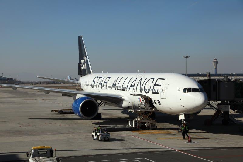 Aviões da aliança da estrela imagens de stock