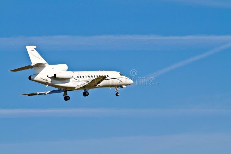 Aviões da aterragem/jato confidencial fotografia de stock