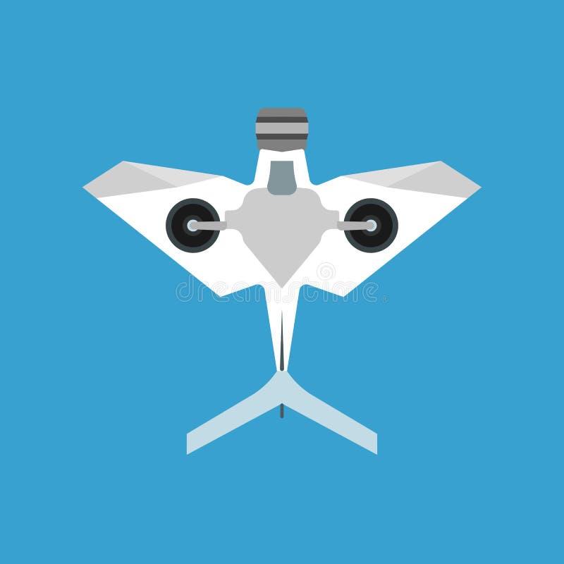 Aviões da câmera aérea do ícone do vetor do quadrocopter do zangão Robô 2não pilotado remoto liso da inovação de Digitas Desenhos ilustração stock