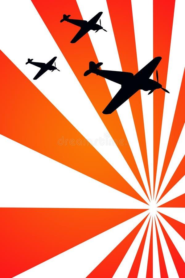 Aviões da guerra ilustração stock