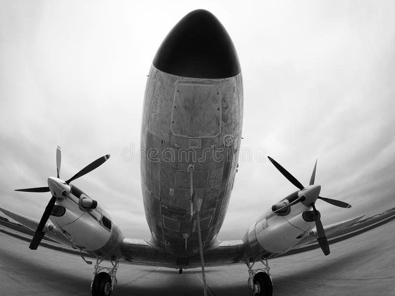 Aviões DC3 do vintage imagem de stock