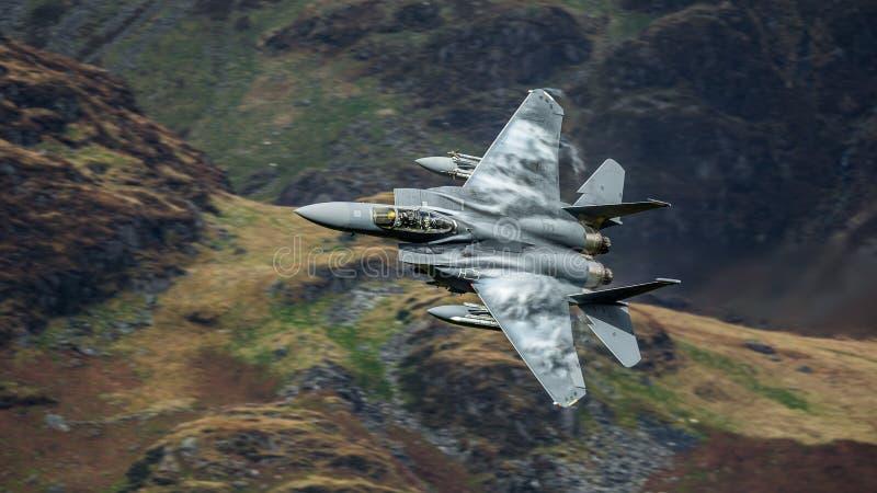 Aviões de avião de combate F15 americanos foto de stock royalty free