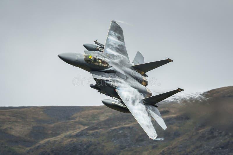 Aviões de avião de combate F15 americanos imagem de stock