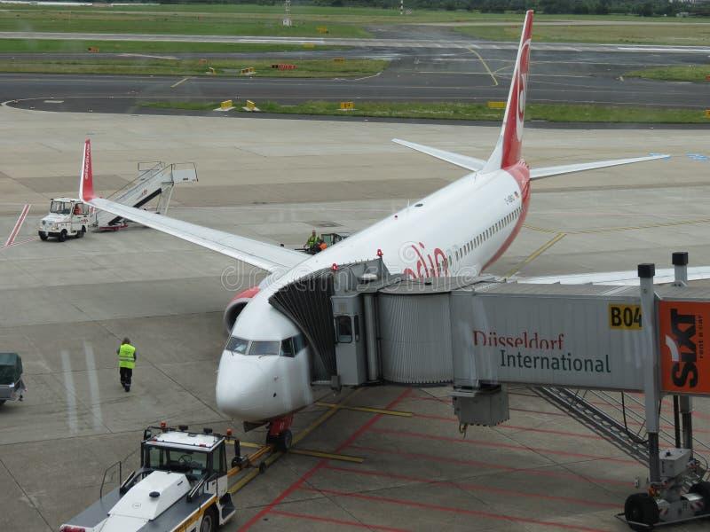 Aviões de Berlin Airlines do ar imagem de stock