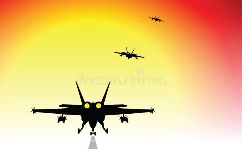 Aviões de combate ilustração stock