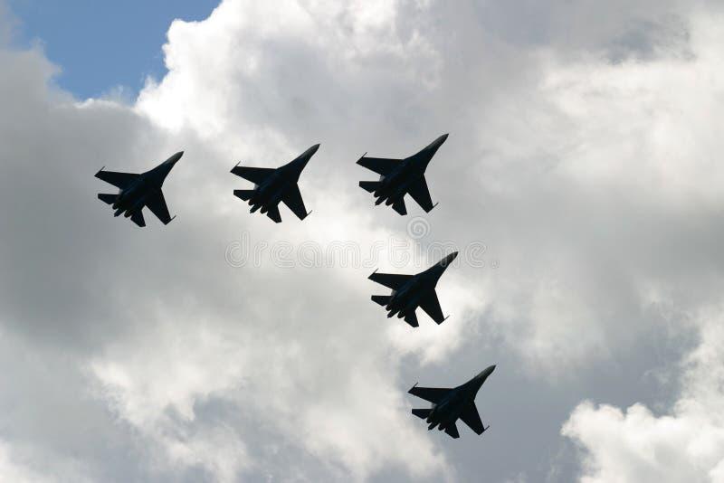 Aviões de combate fotografia de stock royalty free