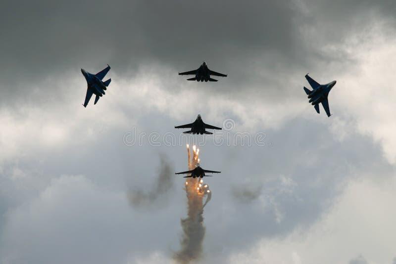 Aviões de combate do russo que mostram a   imagens de stock royalty free