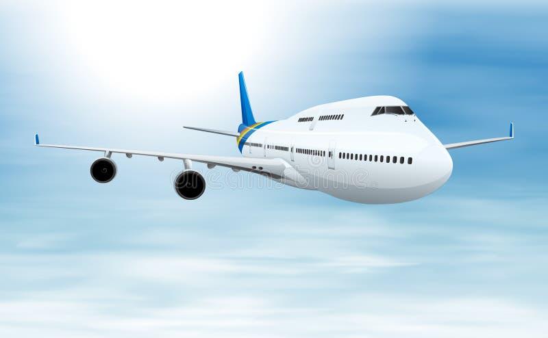 Aviões de Commerical ilustração do vetor