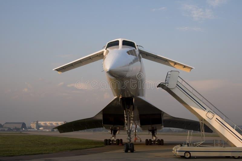 Aviões de jato Tu-144 supersónicos imagens de stock royalty free