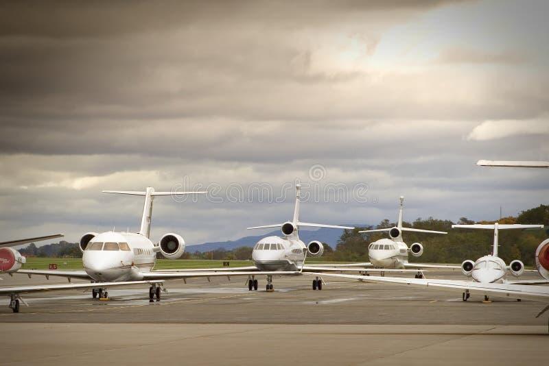 Aviões de negócio imagens de stock royalty free