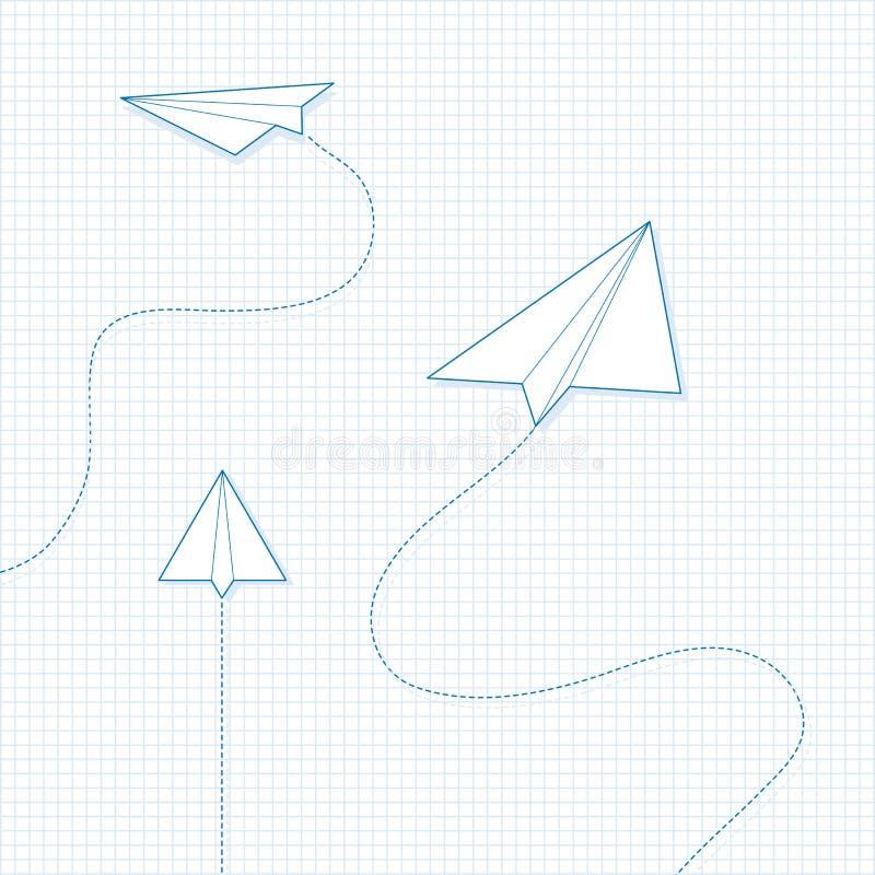Aviões de papel fotos de stock royalty free