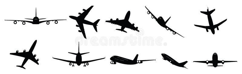 Aviões de passagem ilustração royalty free