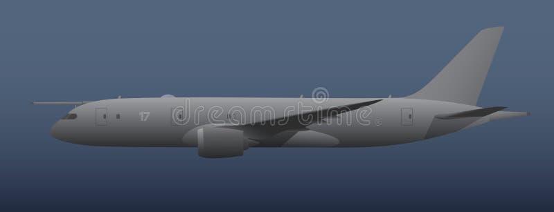 Aviões de patrulha marítima ilustração do vetor