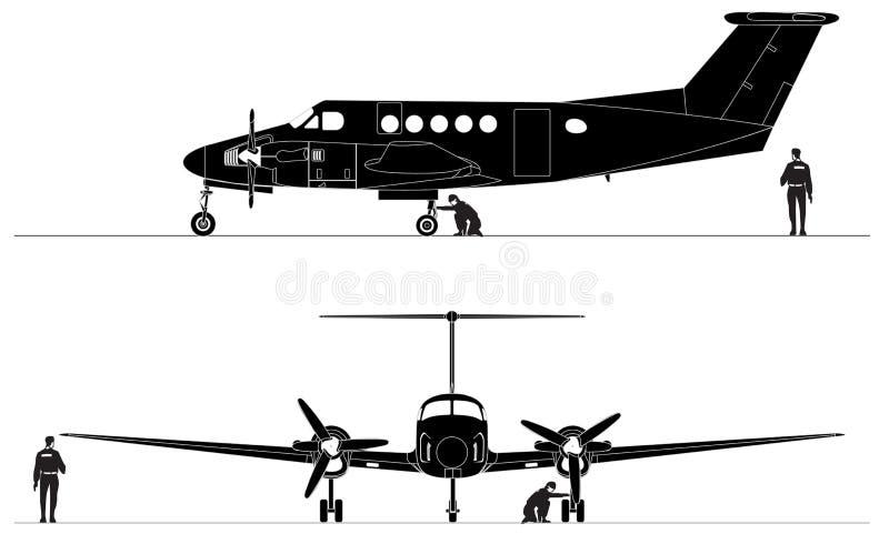 Aviões de serviço público civis ilustração do vetor