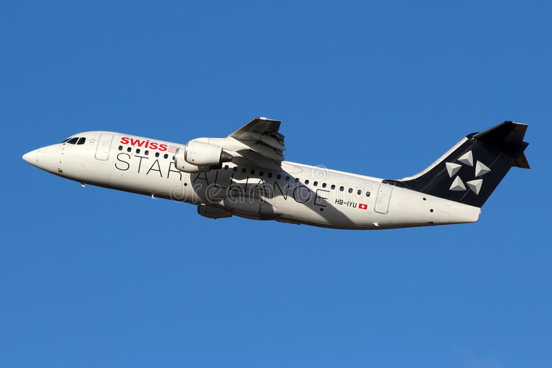 Aviões de Star Alliance fotografia de stock royalty free