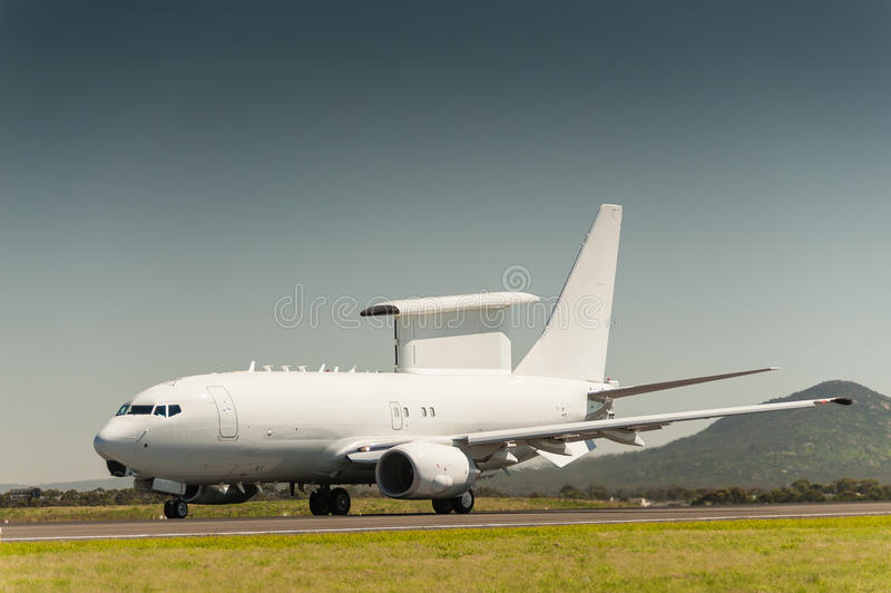 Aviões do AWACS foto de stock