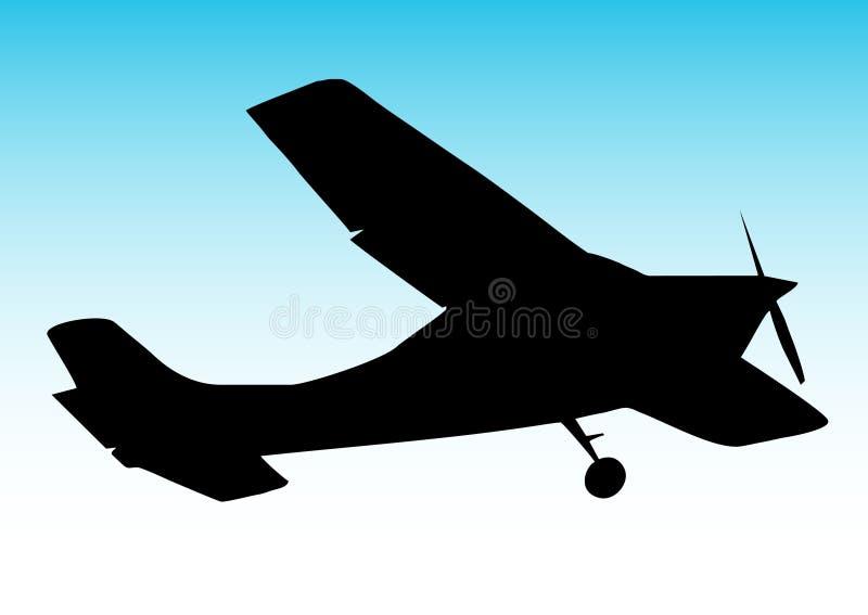 Aviões do biplano ilustração do vetor